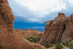 Rock Fins in Moab Utah. Rock Fins in Arches National Monument, Moab Utah royalty free stock photos