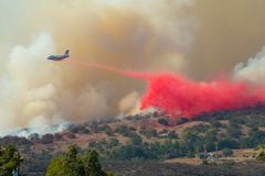 Rock Fire San Diego California Stock Photo