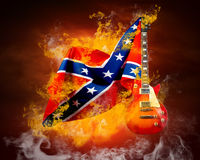 Rock flag Stock Images