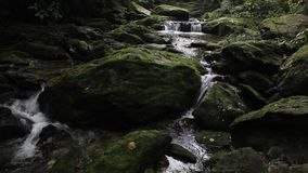 Rock and flowing water stock video