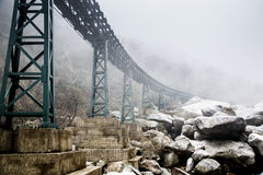 rock fog bridge Stock Photos