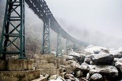 Rock fog bridge Stock Photos