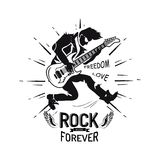 Rock Forever Freedom and Love Vector Illustration Royalty Free Stock Photo