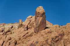 Rock Formation. At the Moab desert in Utah Stock Photo