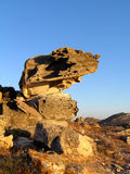 Rock formation,. A naturally carved rock royalty free stock image