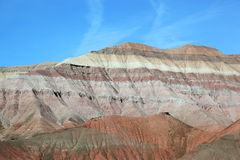 Rock formation. Colourful rock formation on route to Tuba City from Grand canyon National Park, Arizona, USA Stock Photo