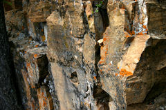 Rock Formation. Colorful rocks in Waterton Park Stock Photography