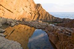 Rock formation. Details. Cabo de Gata National Park, Almeria, Spain Royalty Free Stock Photos