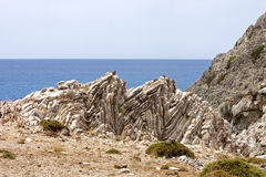 Rock Formation of Agios Pavlos Royalty Free Stock Photos