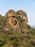 Camelo rock mountain detail in a sunny day Royalty Free Stock Photography