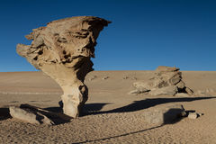 Rock formation Arbol de Piedra. Altiplano, Bolivia Stock Photo