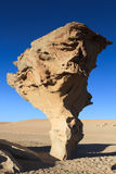 Rock formation Arbol de Piedra. Altiplano, Bolivia Royalty Free Stock Photos