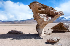 Rock formation  (Arbol de Piedra) in Bolivia. Rock formation  (Arbol de Piedra) in Uyuni, Bolivia Stock Images
