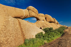 Rock formation with arch Stock Image