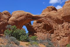 Rock formation at Arches National Park. Landscape, state. royalty free stock photos