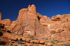 Rock formation in Arches National Park, USA Royalty Free Stock Photo