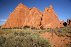 Rock formation in Arches National Park, Utah, USA Royalty Free Stock Photography