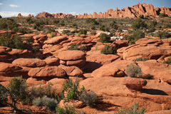 Rock formation in Arches National Park, Utah, USA Stock Photos