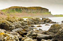 Rock formation on Arran Royalty Free Stock Photography