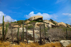 Rock Formation in Aruba Royalty Free Stock Photography