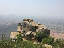 A rock formation atop the Horsley Hills. In Andhra Pradesh royalty free stock image