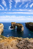 Rock formation in Australian coast Stock Photo