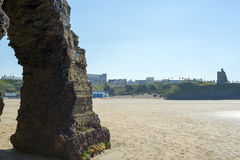 Rock formation at the ballybunion cliffs Stock Images