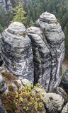 Rock formation at Bastei, Germany Stock Images