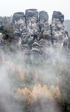 Rock formation Bastei, Germany stock photo