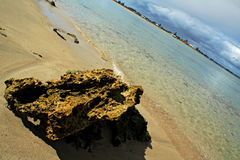 Rock formation on Beach Stock Photos