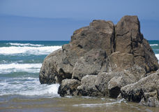 Rock formation at the beach Stock Photography