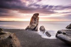 Long Exposure on a beach. royalty free stock image