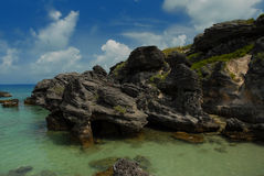 Rock formation in Bermuda Royalty Free Stock Photo