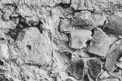 Rock formation, black and white background Stock Photos