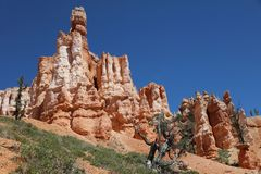 Rock Formation in Bryce Canyon National Park Stock Photo
