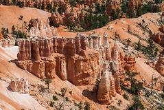 Rock formation in Bryce Canyon National Park, Utah, USA. Architectural composition formed by erosion in Bryce Canyon, Utah, USA Royalty Free Stock Photos