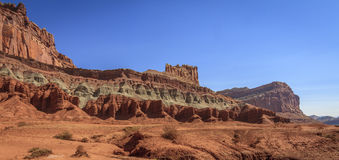 A rock formation called The Castle. At Capitol Reef National Park, Utah Royalty Free Stock Photo