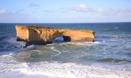 A rock formation called London Bridge on the south coast of Victoria Australia Stock Images