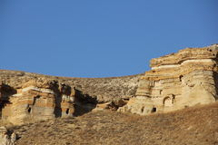 Rock Formation in Cappadocia. Fairy mysterious rock formations in  Cappadocia, Central Anatolia Stock Photos