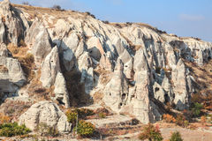 Rock formation in cappadocia Royalty Free Stock Images