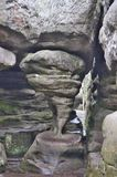 Rock formation, Rock city Bledne rocks. Poland Stock Image