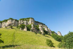 Rock formation created by weathering. Russia, Krasnodar region, Mostovskoy district Stock Photo