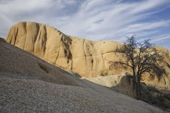 Rock formation in desert Royalty Free Stock Image