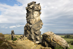 Rock formation, the devil's wall, Weddersleben, Germany Royalty Free Stock Photography