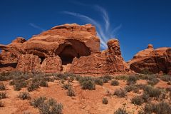 Rock formation at Double Arch. royalty free stock photography