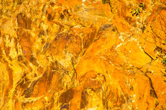 Rock Formation in Fall Golden Light II Stock Photography