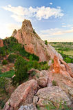 Rock Formation at Garden of the Gods in Colorado Springs, Colorado Royalty Free Stock Photo