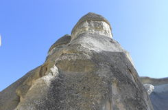 Rock formation,  geologic stones with blue sky. Fairy chimneys, rock formation in Cappadocia Royalty Free Stock Image