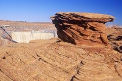 Rock Formation at Glen Canyon Dam Royalty Free Stock Photo