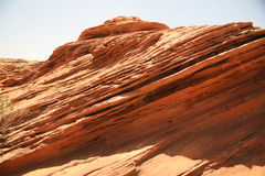Rock formation at the Glen canyon, USA Royalty Free Stock Photos